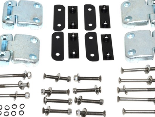 Door Hinges with Kits and Stainless Steel Bolt Kits image