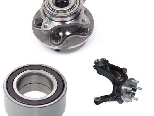 Front Wheel Bearings and Knuckle