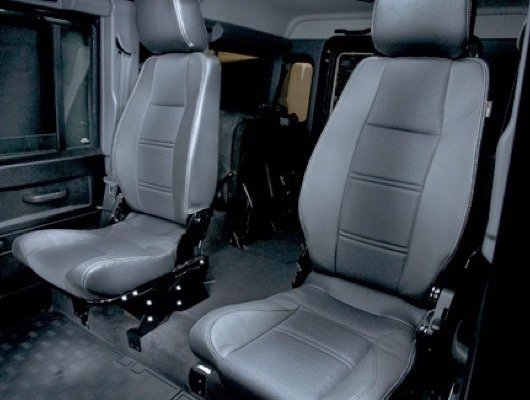 Land Rover Defender Front And Rear Seats And Seat Belts
