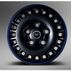 "1945DEFENDMBGS - Kahn Design - Defender 1945 Defend Alloy Wheel in Matte Black and Blue - 8 x 18"" - Single Wheel"