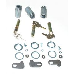 320609-3 - Land Rover Series 2A & 3 Barrel and Key Set - For Three Doors - Three Barrels and Six Keys
