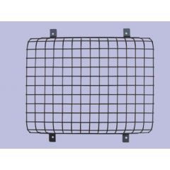 345985P - Front Black Plastic Coated Lamp Guards - Mesh Style (sold as Single NOT Pair) - For Defender and Series