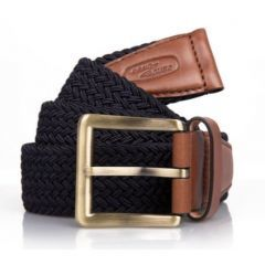 51LDGF604NV-small - Land Rover Leather Trim Belt - Unisex - Heritage Branding in Size Small/Medium