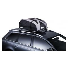 6011 - Thule Ranger 90 Roof Box - Black and Silver Foldable Roof Box