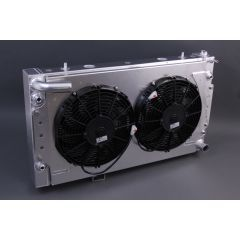 AS76+CTF+T - Alloy Radiator by Allisport for Discovery 1 and Range Rover V8 - With Cowl, Twin Spal Fans & Thermostat