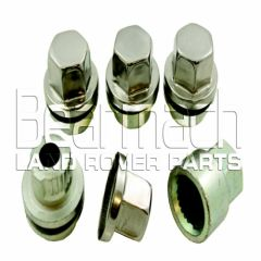 BA017/5 - Set Of 4 Locking Nuts With Key For Alloy Wheels - For Discovery 2 and Range Rover P38