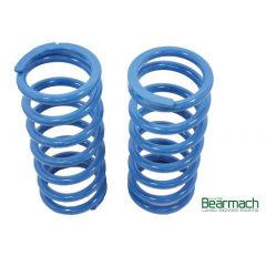 BA2100B - Rear Defender 110 Springs - Bearmach - 40mm Lift with 420lbs Rating - Top Quality Pair of Heavy Duty Bearmach Blue Springs