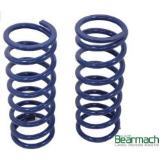 BA2253 - Rear Defender 110 Springs - Bearmach - 50mm Lift with 330lbs Rating - Top Quality Pair of Bearmach Blue Springs (Off Road Use Only)