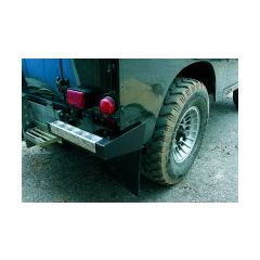 BA290 - Bumperettes - Pair Of Black Nylon With Cheuqer Top - For Defender and Series