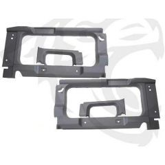 BA8001 - Rear Interior Side Trims for Land Rover Defender 90/110 - In Light Grey - With Cut Out for Side Windows
