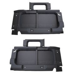 BA8003 - Rear Interior Side Trims for Land Rover Defender 90 - In Black - For Vehicles without Side Windows