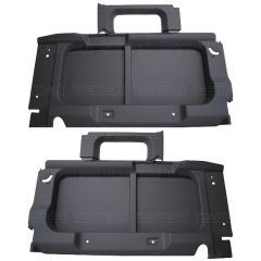 BA8005 - Rear Interior Side Trims for Land Rover Defender 90 - In Dark Grey - For Vehicles without Side Windows