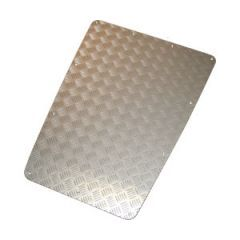 BCKIT01-DEF/A - Bonnet Centre Chequer Plate in Satin / Silver Anodised - For Defender 1983-2007