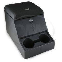 OEM Land Rover Defender High Top Cubby Box - Comes in with Black Mondus Lid Complete with Lock and Two Drinks Holders
