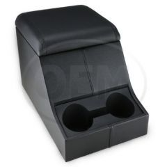 OEM Land Rover Defender High Top Cubby Box - Comes in with Ottawa Leather Lid Complete with Two Drinks Holders