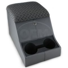 OEM Land Rover Defender High Top Cubby Box - Comes in with Techno Lid Complete with Loc k and Two Drinks Holders