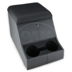 OEM Land Rover Defender High Top Cubby Box - Comes in with Vinyl Twill Lid Complete with Lock and Two Drinks Holders