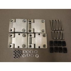 DA1069SS - Front Door Hinge Kit for Defender with Stainless Steel Fittings (Early Style Door Hinges)