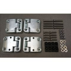 DA1070 - Full Front Door Hinge Kit for Defender and Land Rover Series (TD5 Style Heavy-Duty Door Hinges) with Stainless Steel Bolts, Nuts Etc