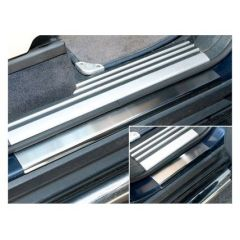 DA1073 - Lower Sill Protectors In Brushed Stainless Steel For Range Rover L322