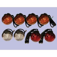 DA1077 - Full Vehicle Light Kit (4 Indicator, 2 Stop, 2 Side) - For Defender (up to 1994) and Land Rover Series