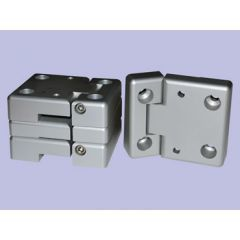 DA1131 - Full Aluminium Front Door Hinge Kit - Complete with Stainless Steel Pins - For Defender / Land Rover Series