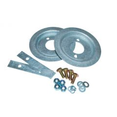 DA1215 - Britpart Galvanised Rear Spring Seat and Retainer Kit - For Defender 90, Discovery 1 and Range Rover Classic