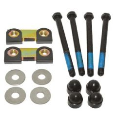 DA1269 - Defender Front Bumper Fitting Kit - Set of Four Bolts, Washers, Black Caps and Tapping Blocks