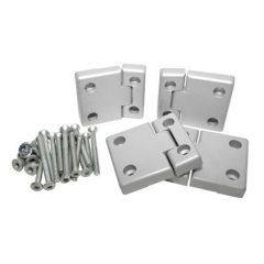 DA1309 - Full Aluminium Rear Side Door Hinge Kit - Complete with Stainless Fixings - For Defender / Land Rover Series