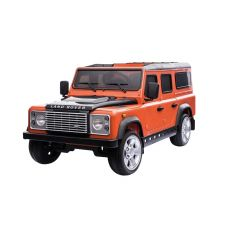 DA1522 - Ride On Defender 110 in Orange and Black - Plastic Finish - Suitable for Children Aged 3 to 8