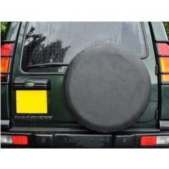 DA2025 - Land Rover Wheel Cover In Plain Black Vinyl - Fits 235 x 70 16 and 255 x 55 x 18