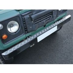 DA2054 - Defender Bumper Top Chequer Plate - For Defender and Land Rover Series - 2mm Aluminium Finish