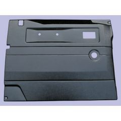 TR262A - Defender Replacement Door Card - Front Right Hand with Manual Windows In Black ABS Plastic (Fits from 2005 Onwards)
