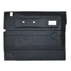 TR263AEW - Defender Replacement Door Card - Front Left Hand with Electric Windows In Black ABS Plastic (Fits from 2005 Onwards)
