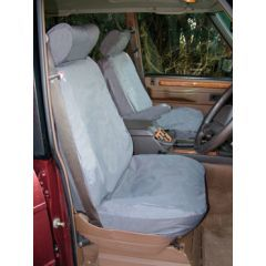DA2803BLUE - Front Range Rover Classic Seat Covers In Blue (Four Door)