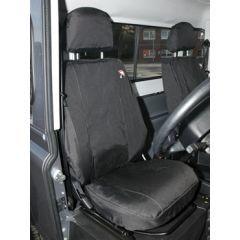 DA2818BLACK - Defender Front Seat Covers in Black - 2007 Onwards