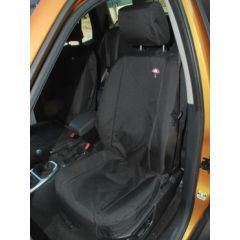 DA2819BLACK - Front Seat Covers In Black for Range Rover Sport up to 2009 (Shows Similar Set Fitted to Freelander 2)