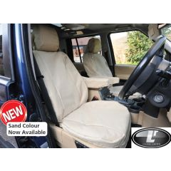 DA2839SAND - Front Seat Covers In Sand for Range Rover Sport 2009-2013 (Shows Similar Set Fitted to Discovery 3)