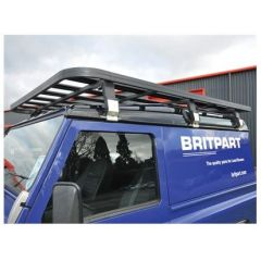 DA3070 - Defender 90 Full Roof Rack In Black - Britpart Expedition - 2.05m long x 1.50m wide (Made in UK)