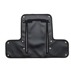 DA4025BLACK - Radiator Muff for Land Rover Series 2 & Early 2A - In Black with Black Edging