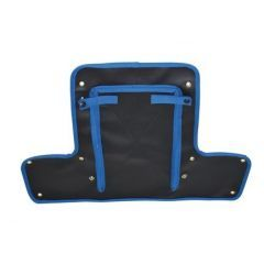 DA4025BLUE - Radiator Muff for Land Rover Series 2 & Early 2A - In Black with Blue Edging