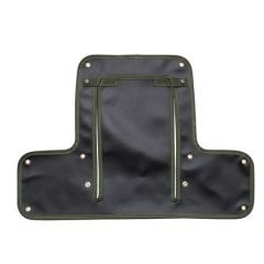 DA4025GREEN - Radiator Muff for Land Rover Series 2 & Early 2A - In Black with Green Edging