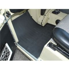 DA4422 - Land Rover Series II & III Rubber Footwell Mat Set - Front In Black - By Autograph - Series 2, 2A & 3