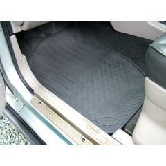 DA4428 - Freelander 1 Rubber Footwell Mat Set - Front In Black - By Autograph