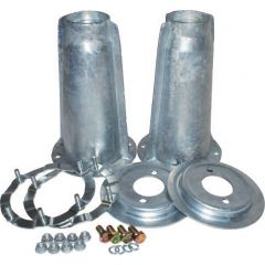 Britpart Galvanised Shock Absorber Turret & Ring Kit - DA1186