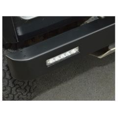 DA5679 -  Pair of LED Lights Fitted to Britpart Front Bumper for Land Rover Defender