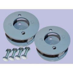 """DA6344 - Britpart Front Spring Spacers Blocks - 2""""  Lift - For Defender, Discovery 1 and Range Rover Classic"""