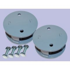 """DA6345 - Britpart Rear Spring Spacers Blocks - 2""""  Lift - For Defender, Discovery 1 and Range Rover Classic"""