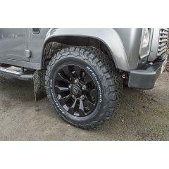 DA6548 - Gloss Black Defender Sawtooth Alloy - X-Tech Alloy - 18 x 7 - For all Land Rover Defender Models - 18 Inch Sawtooth Wheel