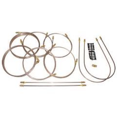 DA7418 - Defender 90 Brake Pipe Complete Vehicle Set - Right Hand Drive - From 1992-1998 With Front Brake Valve and No ABS